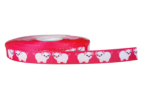 19mm Wide Pink Piggys Double Ended Lead