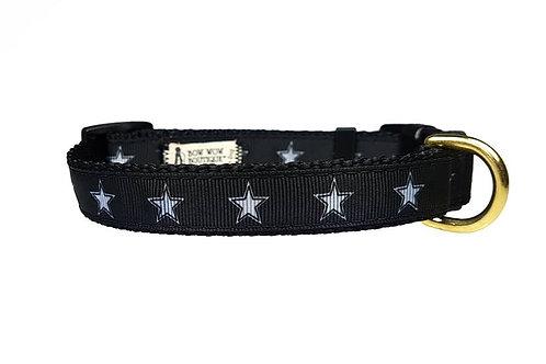 19mm Wide Stars on Black Collar
