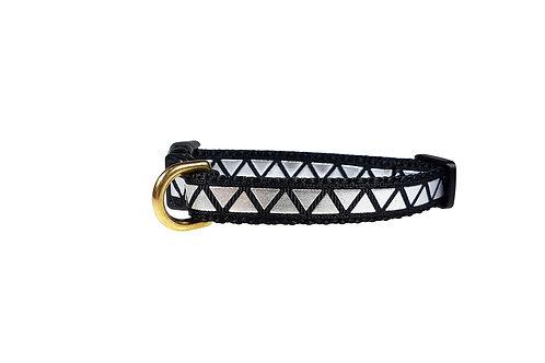 12.7mm Wide Black w/ Silver Triangles Collar