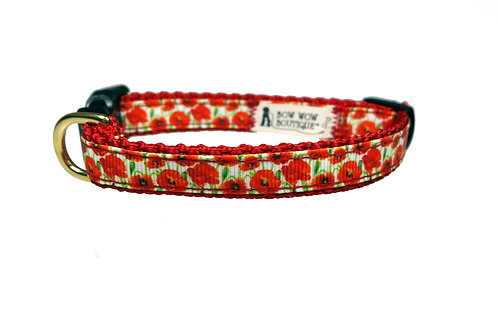 12.7mm Wide Poppies Collar