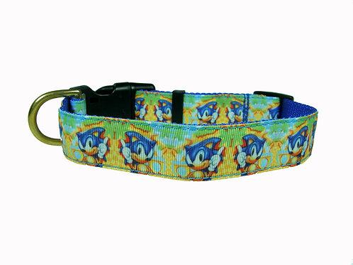25mm Wide Sonic the Hedgehog Dog Collar