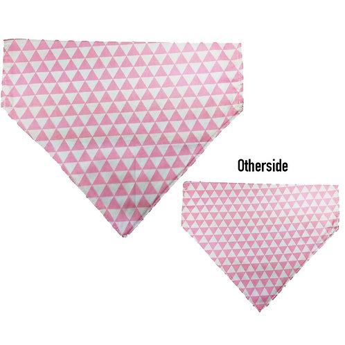 Large Pink & White Triangles Bandana