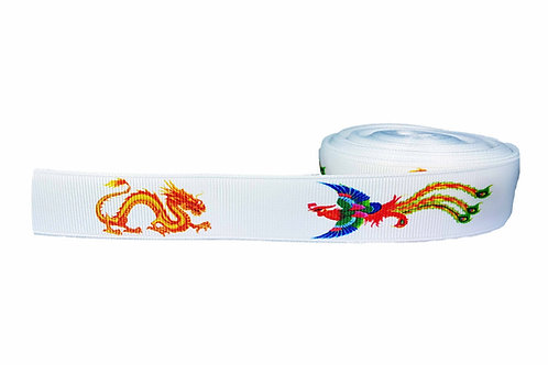 25mm Wide Dragon & Phoenix Martingale Collar