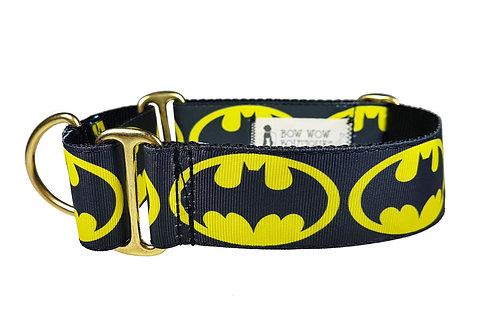 38mm Wide Batman Martingale Dog Collar