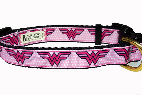 19mm Wide Wonder Woman (Pink) Collar