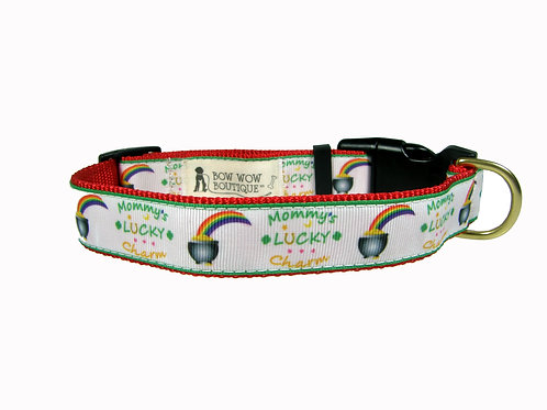 25mm Wide Lucky Charm Dog Collar