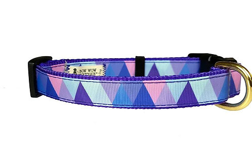 19mm Wide Purple Triangles Collar