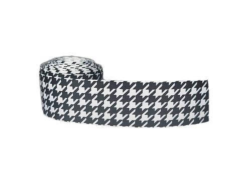 38mm Wide Houndstooth Dog Collar