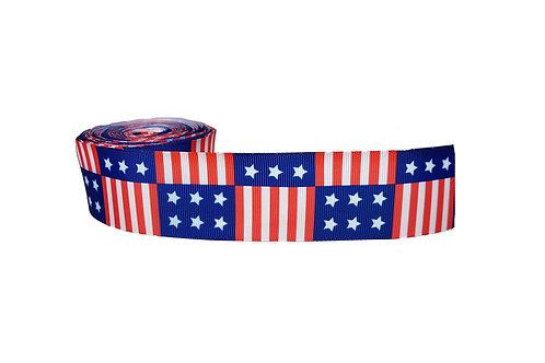 38mm Wide USA Flag Dog Collar