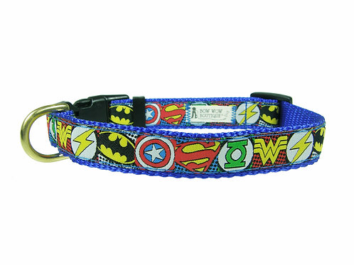 19mm Wide Super Hero Icons Collar
