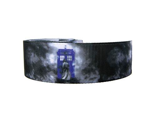 25mm Wide Dr Who Tardis V2 Dog Collar