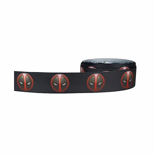 25mm Wide Deadpool Dog Collar