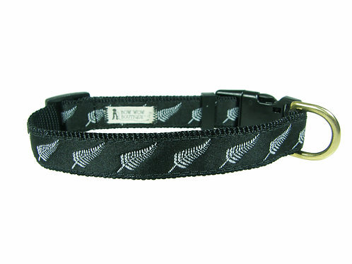 19mm Wide Silver Fern Collar