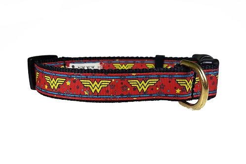 19mm Wide Wonder Woman (Red) Collar