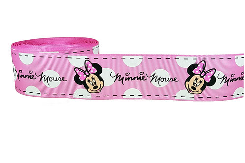 38mm Wide Minnie Mouse (Pink) Dog Collar