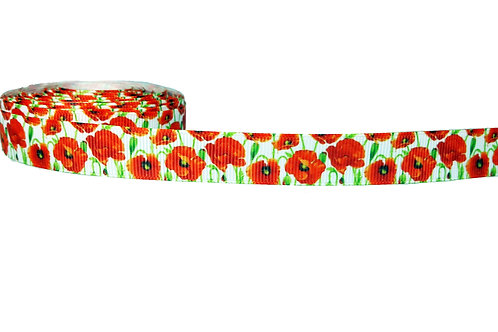 19mm Wide Poppies Martingale Collar