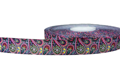 19mm Wide Pink Paisley Double Ended Lead