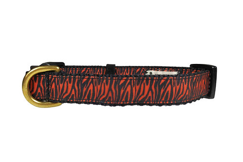 19mm Wide Tiger Stripes Dog Collar
