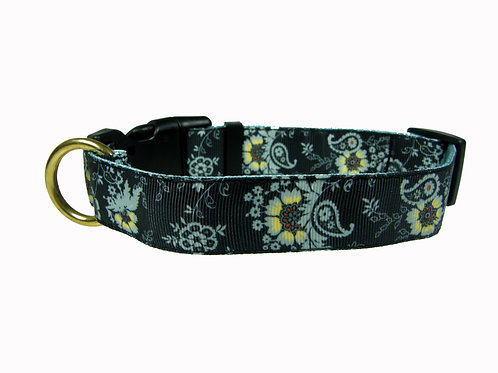 25mm Wide Asian Inspired Paisley Dog Collar