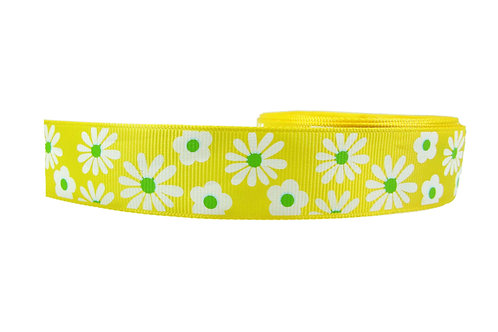 25mm Wide Daisys on Yellow Double Ended Lead