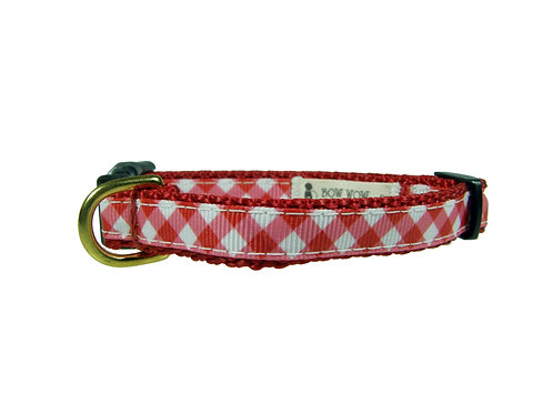 12.7mm Wide Red Check Collar
