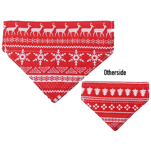 Small Red Xmas Sweater Bandana