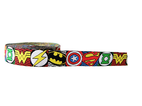 19mm Wide Super Hero Icons Double Ended Lead