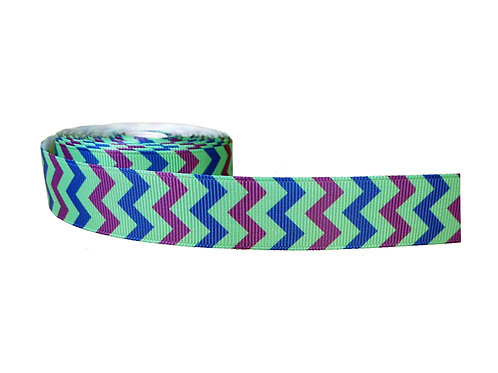 25mm Wide Blue & Purple Chevron Martingale Collar