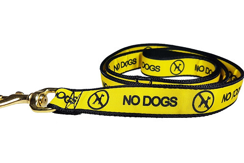 25mm Wide No Dogs Lead