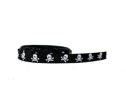 12.7mm Wide Black Skulls Lead