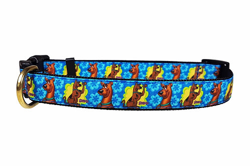 25mm Wide Scooby Doo Groovy Dots Dog Collar