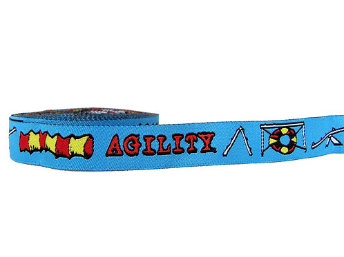 19mm Wide Blue Agility Martingale Collar