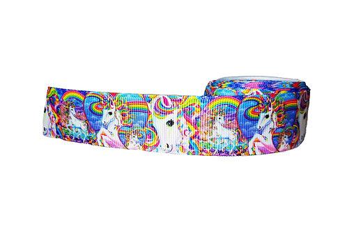 25mm Wide Unicorns Realistic Dog Collar