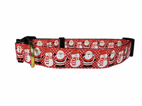 25mm Wide Santa Dog Collar