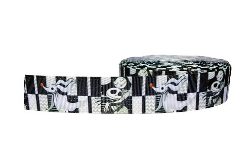 25mm Wide Jack and Sally Double Ended Lead