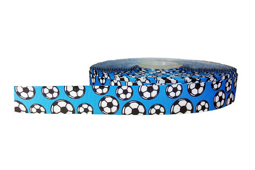 25mm Wide Light Blue Soccer Balls Double Ended Lead