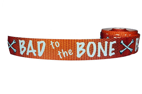 25mm Wide Bad to the Bone Orange Martingale Collar