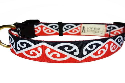 25mm Wide Maori Kowhaiwhai Dog Collar