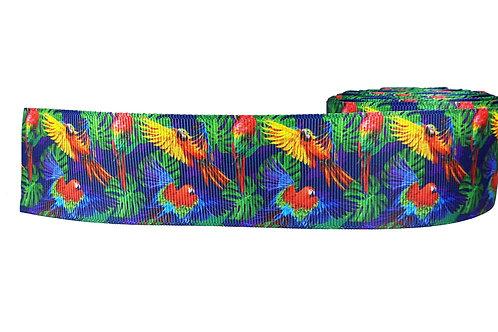38mm Wide Parrots Dog Collar