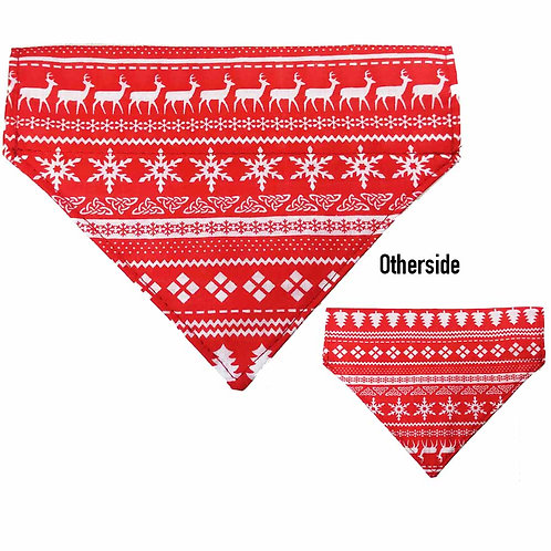 Medium Red Xmas Sweater Bandana