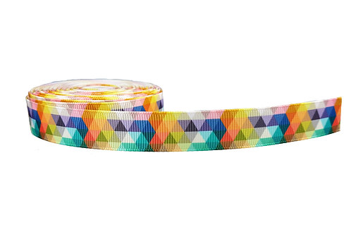 19mm Wide Multi Coloured Triangles Double Ended Lead