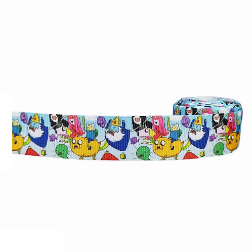 25mm Wide Adventure Time Dog Collar