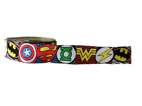 25mm Wide Super Hero Icons Martingale Collar