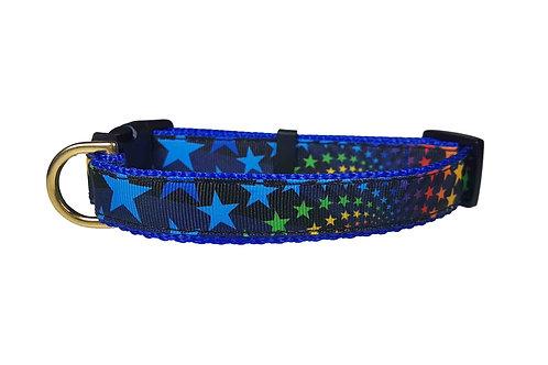 19mm Wide Rainbow Stars Collar