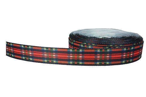 19mm Wide Red Tartan Double Ended Lead