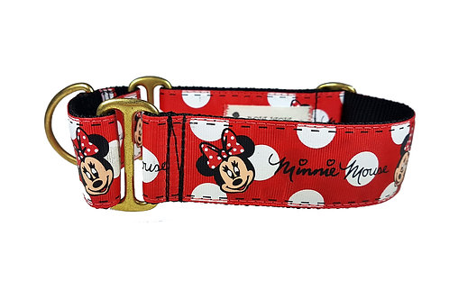 38mm Wide Minnie Mouse Martingale Dog Collar