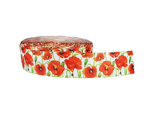 38mm Wide Poppies Martingale Collar