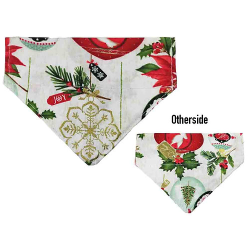 Small Christmas Ornaments Bandana
