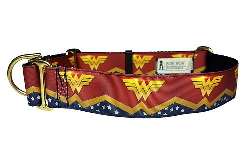 38mm Wide Wonder Woman Martingale Collar