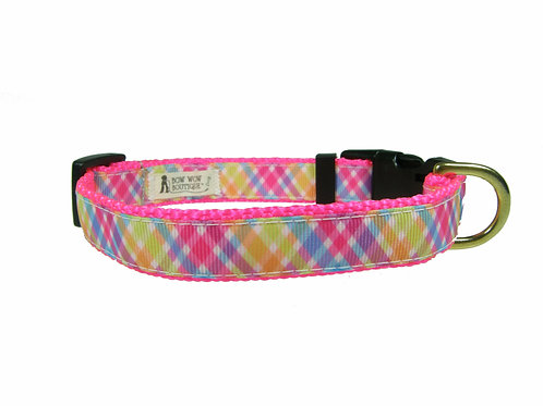 19mm Wide Pink Criss Cross Collar